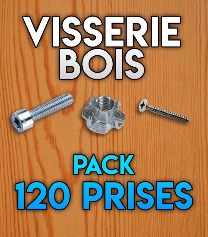Visserie bois pour pack 120 prises initiation